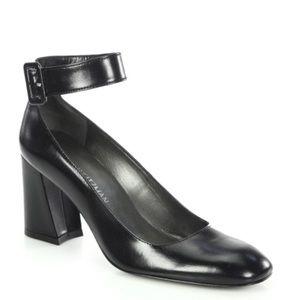 Stuart Weitzman Black Leather Clara Heels- Sz. 9